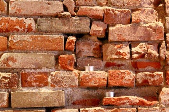 Bon Temps Cafe: Original brick from our buildings' construction decades ago!