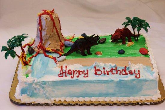 Customized dinosaur birthday cake   Picture of Anna's Marketplace