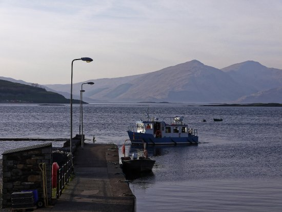 Port Appin, UK: The Pier and Lismore ferry...