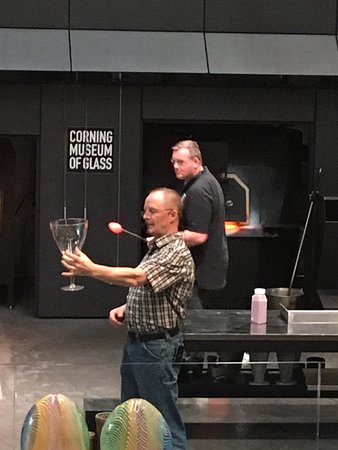 Corning, NY: Hot shop presentation.