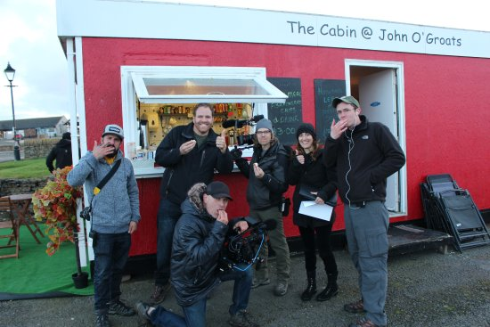 John O'Groats, UK: Travel Channel visit , see us on TV in October 2017!