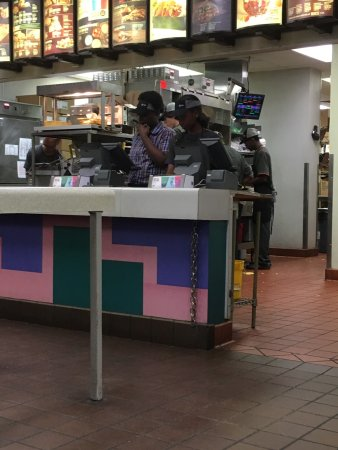 North Augusta, SC: All orders (5)before ours were wrong, 8 working and manager not ready 15 minutes now and still n