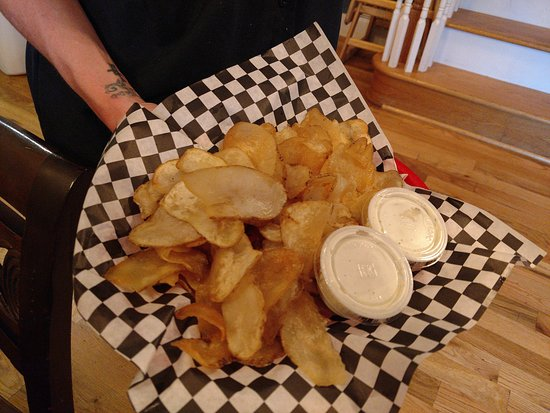 Housemade chips at Side Street Pour House in Downtown Lenoir, NC