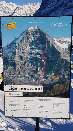"Jungfrau Region, Zwitserland: Eiger North Wall ""runs"". Not for the feint hearted :-)"