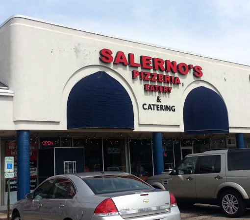 front of & entrance to Salerno's Pizzeria & Eatery