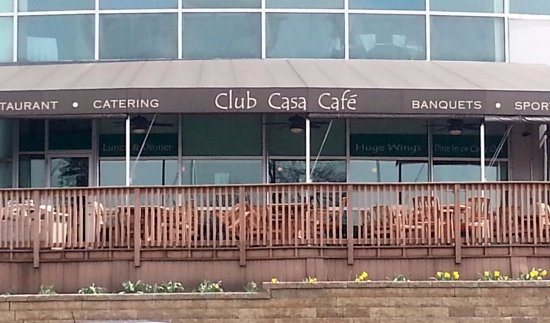 Des Plaines, IL: front of & patio dining area for the Club Casa Cafe
