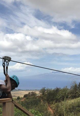 Ka'anapali, HI: Dad zip lining