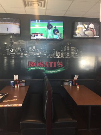 Quite possibly best Pizza you will ever eat. Rosati's Pizza Pub of Wake Forest.