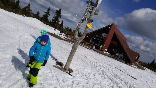 Pec pod Snezkou, Tschechien: krásný výhled na Sněžku, opravdu úžasné místo