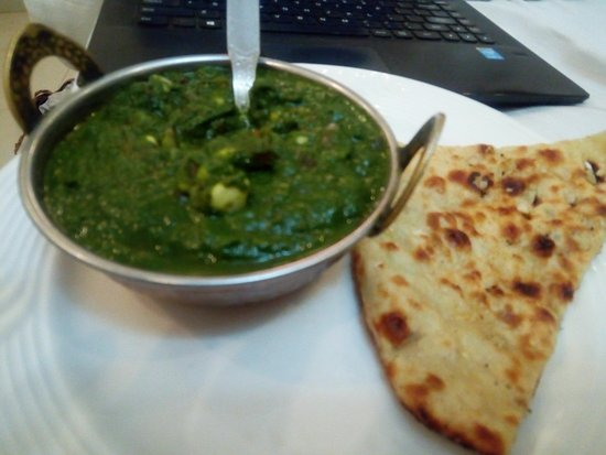 The Shipra International: Corn Palak - yummy veg curry