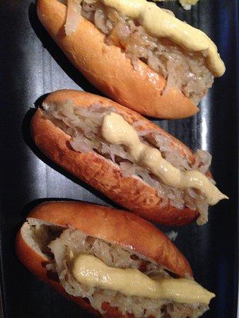 Bankstown, Australia: Trio of German Sausages with Sauerkraut and German Mustard