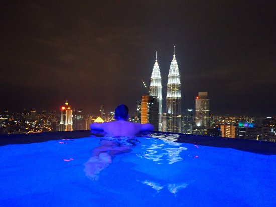Sky pool picture of the face suites kuala lumpur tripadvisor for Late night swimming pools london