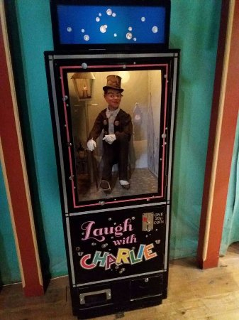 Wookey Hole Old Penny Pier Arcade: laugh with charlie