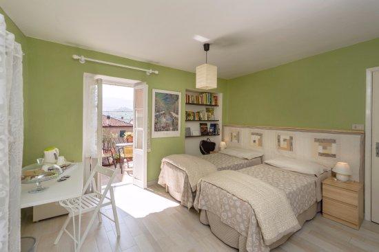 camera doppia con letti singoli - Foto di Ca du Lilan, Bosio ...