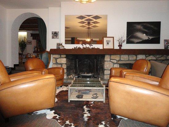Hotel Bellier : salon avec cheminée