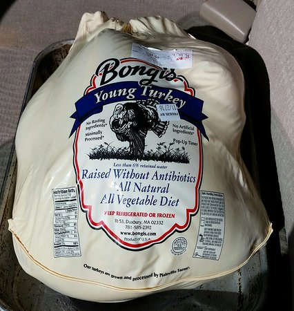 Duxbury, MA: This is a photo of a frozen turkey from December; but just got a fresh one looking the same.