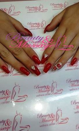 Gel Nails With Summer Nail Art Picture Of Beauty Massage