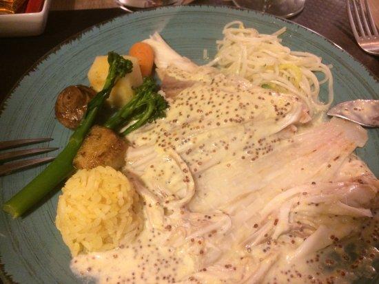 Hotel restaurant le Speranza: Raie sauce moutardée
