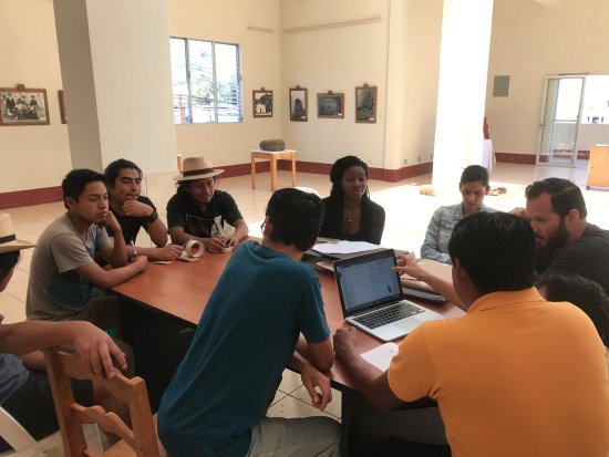 San Juan la Laguna, Guatemala: USF MBA students working with jovenarte in museum on their marketing plan