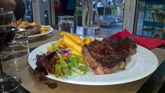 La Bree-les-Bains, Frankrike: entrecôte frites