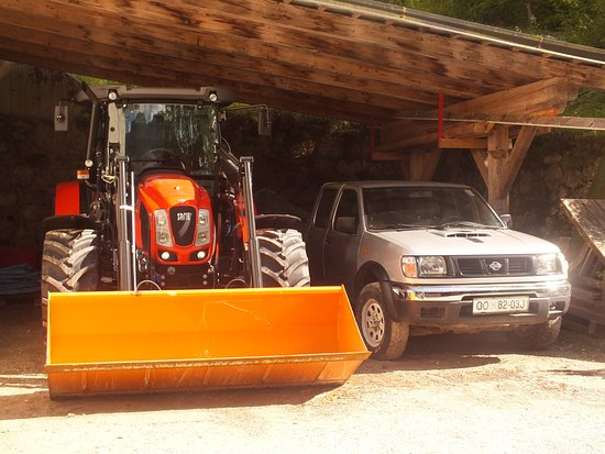 Bohinjsko Jezero, Slovenia: machines stored for usage in winter