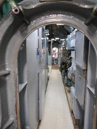Seawolf Park: Long narrow corridors in the Sub