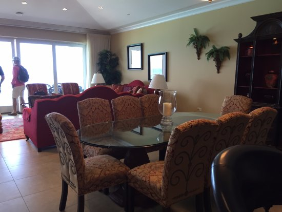 Caribbean Club: our living room dining area in 4 bedroom