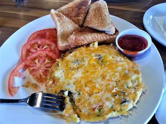 Vegetarian Omelette - Fox and Fiddle, Langley, BC