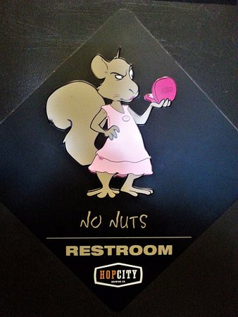 Ladies' room sign - Fox and Fiddle, Langley, BC