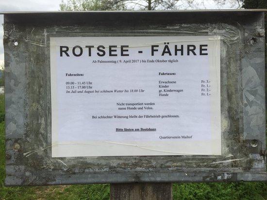 Ebikon, Szwajcaria: Rotsee bei Luzern