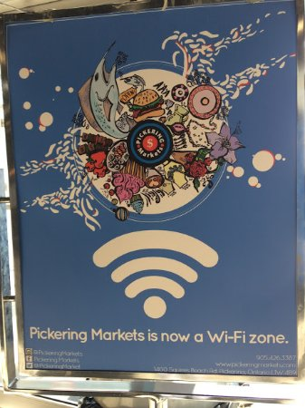 The Pickering Markets: Wi-fi is free