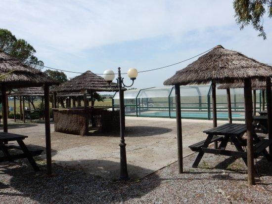 Alcacovas, Πορτογαλία: Zona perto da piscina com possibilidade de picnic