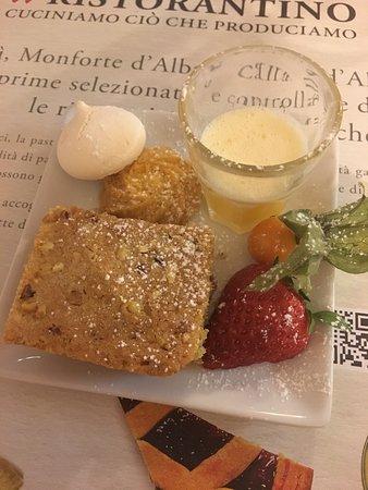Il Ristorantino Michelis: Torta di nocciole con crema di zabaione