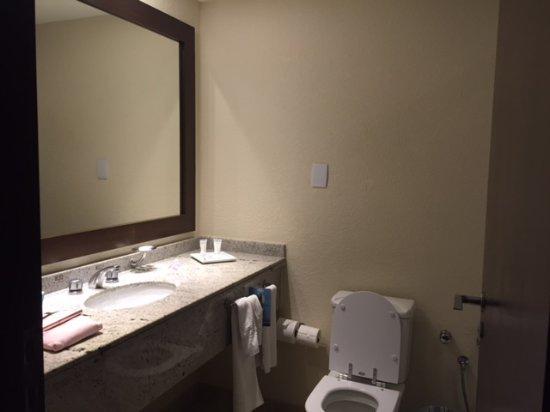 Quality Hotel Curitiba: Banheiro grande com chuveiro ótimo!
