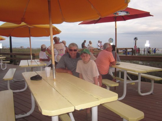 Paradise Grille : beach shack right on beach.. best spot for sunset or whatever!