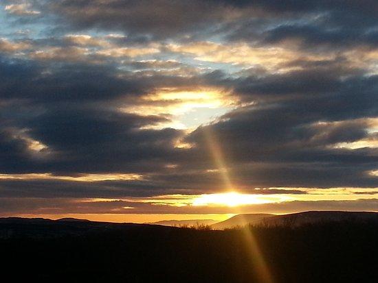 Husafell, Islandia: Sunset before the light display