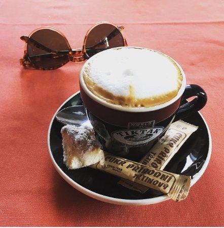 Snezne, Czech Republic: cappuccino
