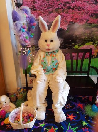 Brooks, Canada: Easter Bunny on Good Friday