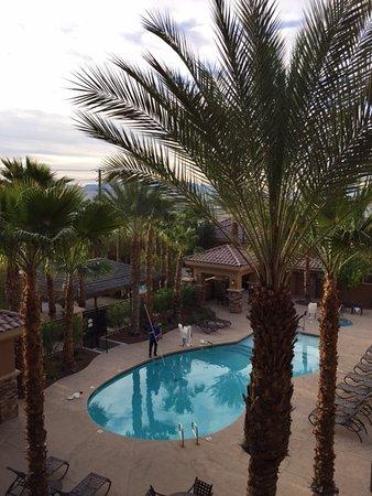 Hilton Garden Inn Las Vegas Strip South: View from the third floor.