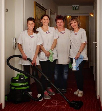 Hotel Europa Bamberg: Unsere fleißigen Zimmerdamen
