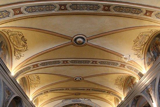 Aussois, Francia: plafond de la nef