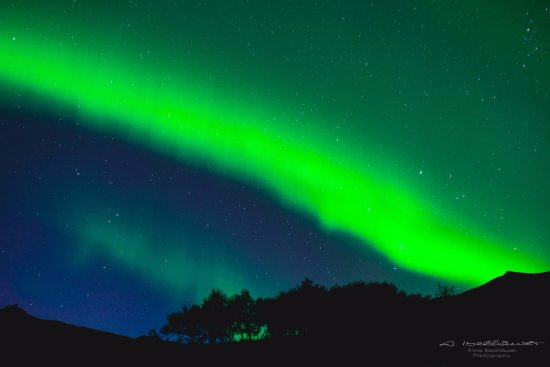 Fludir, Исландия: Northen lights on our farm <3