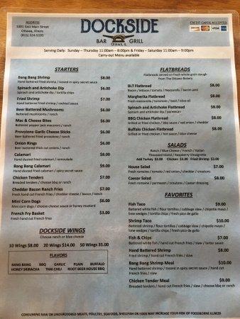 Ottawa, IL: New menu