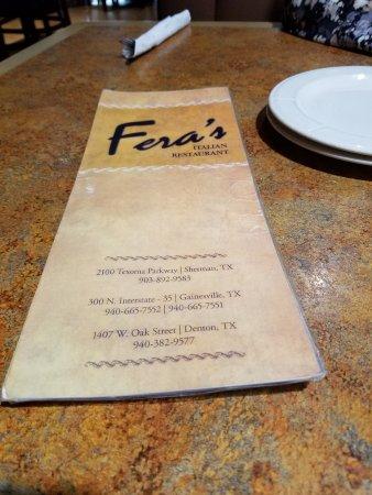 Fera's Italian Restaurant: 20170414_194150_large.jpg