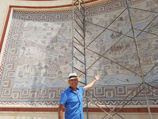 Madaba map replication in deir hajla Picture of Danny the Digger