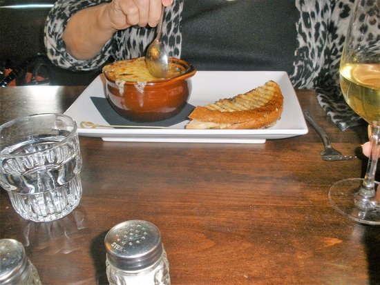 Pleasanton, CA: french onion soup