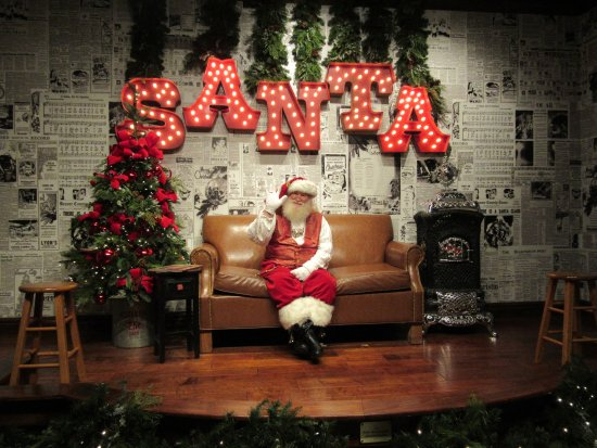 christmas place santa waiting for you to come have a photo with him - Christmas Shop Pigeon Forge