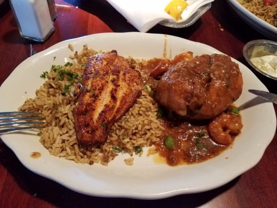 Grilled Catfish Shrimp Etouffee Meh Picture Of Pappadeaux Seafood Kitchen San Antonio Tripadvisor