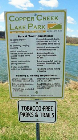 Pleasant Hill, IA: Some rules to follow while in the area.
