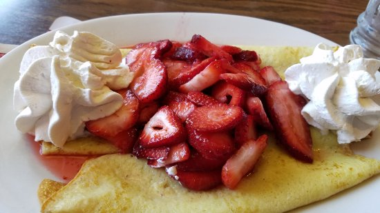 Gresham, OR: Children's Chocolate Chip Pancakes * Waffle with Fresh Strawberries * Crepes with Fresh Strawber